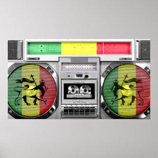 reggae boombox poster