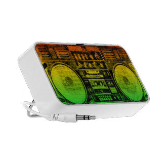 Reggae Boombox Notebook Speakers