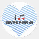 Reggae céltico pegatinas