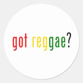¿reggae conseguido? pegatina redonda