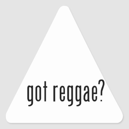 ¿reggae conseguido? pegatina triangular