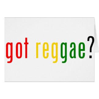 ¿reggae conseguido? tarjeta de felicitación