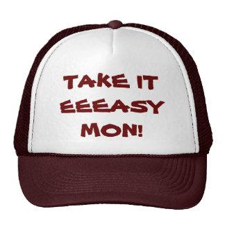 REGGAE DANCEHALL ISLAND HAT - TAKE IT EEEASY MON!