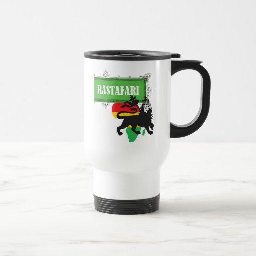 Reggae de Jamaica de la bandera de Rastafari Rasta Tazas