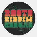 Reggae de Riddim de las raíces Pegatina