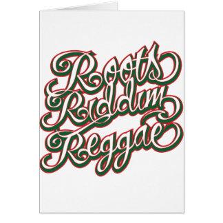 Reggae de Riddim de las raíces Tarjeton