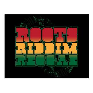 Reggae de Riddim de las raíces Tarjetas Postales