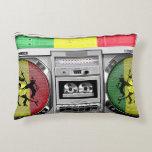 reggae del boombox cojín decorativo