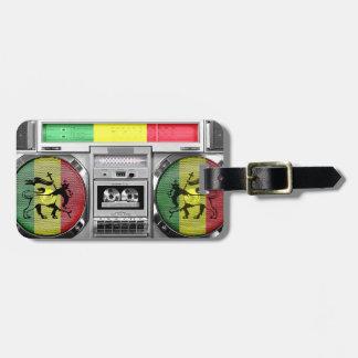 reggae del boombox etiqueta para equipaje