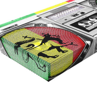 reggae del boombox lona envuelta para galerias