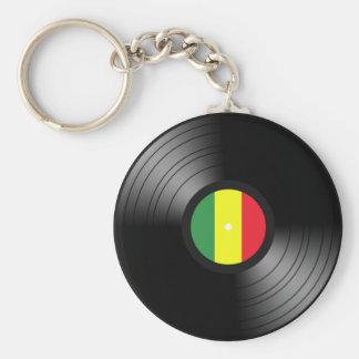 Reggae del vinilo llavero redondo tipo pin