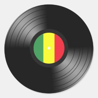 Reggae del vinilo etiqueta redonda