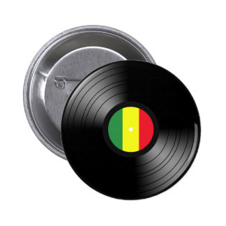 Reggae del vinilo pin redondo de 2 pulgadas