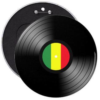 Reggae del vinilo pin redondo de 6 pulgadas