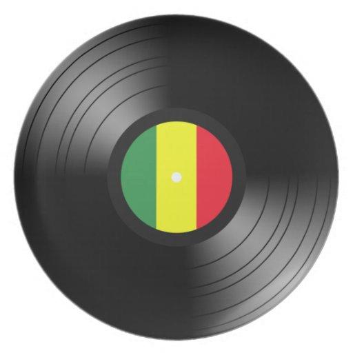 Reggae del vinilo plato para fiesta