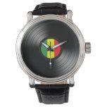 Reggae del vinilo reloj de mano