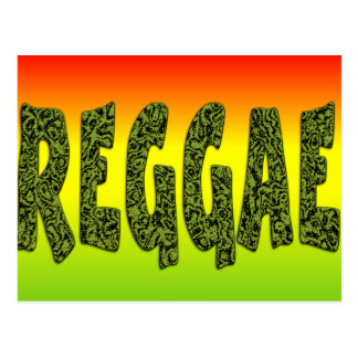 Reggae design postcard