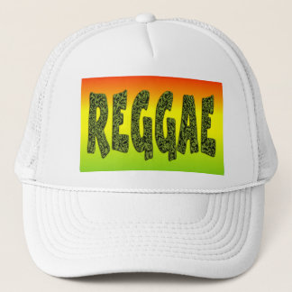 Reggae design trucker hat