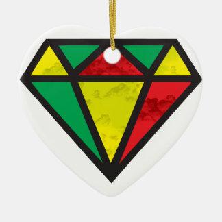 Reggae Diamond Ceramic Ornament