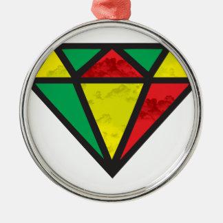 Reggae Diamond Metal Ornament