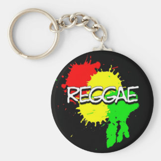 reggae flag spots on a black background keychain