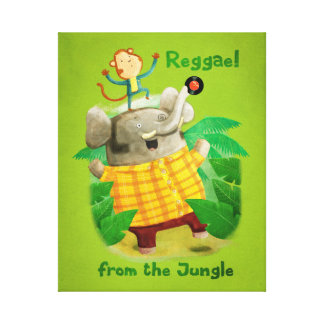 Reggae from The Jungle Stretched Canvas Prints