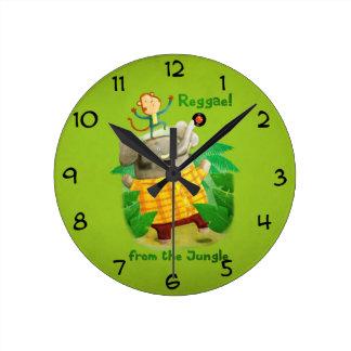 Reggae from The Jungle Round Clock