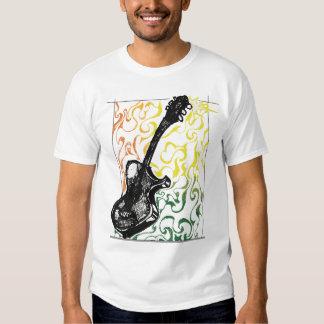 Reggae Guitar Illustration T-shirt