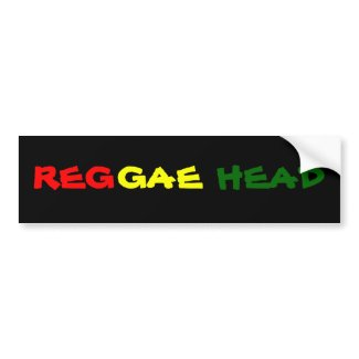 REGGAE HEAD bumpersticker