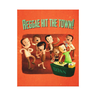 Reggae hit The Town! Gallery Wrap Canvas
