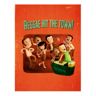 Reggae hit The Town! Postcard