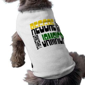 Reggae Jamaica Dance Hall Cube, 3 Colors Dog T-shirt