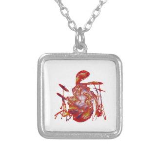 Reggae Junkanoo Silver Plated Necklace