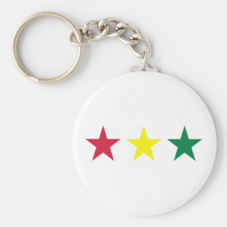 Reggae Basic Round Button Keychain