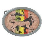 Reggae king lion belt buckles