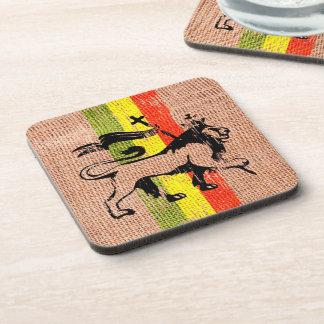 Reggae king lion drink coasters