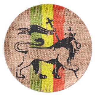 Reggae king lion dinner plate