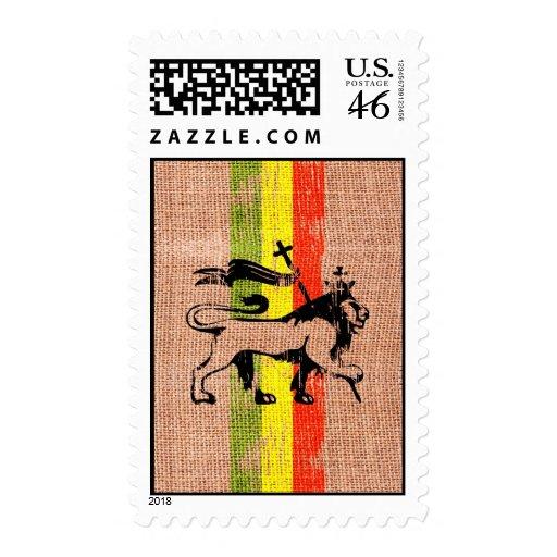 Reggae king lion postage
