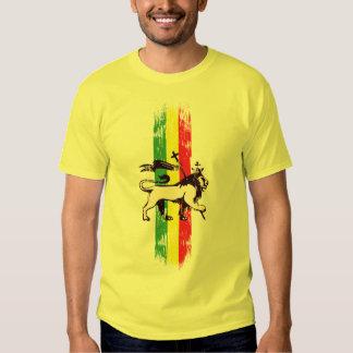 Reggae king lion tee shirt