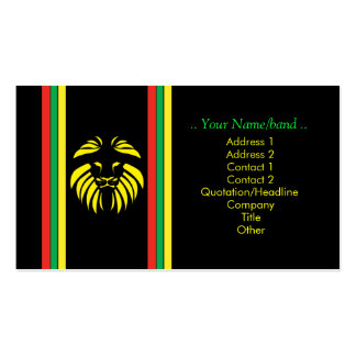 Reggae Lion B/Card Double-Sided Standard Business Cards (Pack Of 100)
