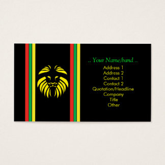 Reggae Lion B/Card Business Card
