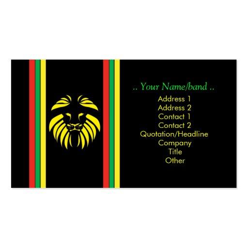 Reggae Lion B/Card Business Card