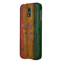 reggae lion crest on wood texture galaxy s5 case