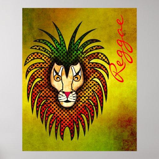 Reggae Lion Print