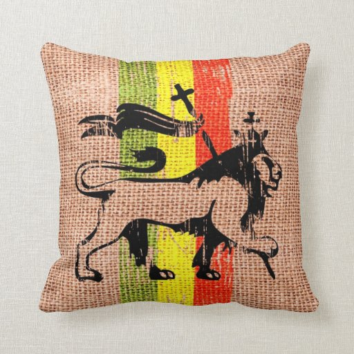 Reggae Square Throw Pillows