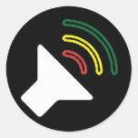 Reggae Listen Sticker