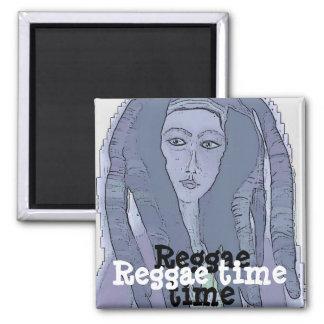 Reggae 2 Inch Square Magnet