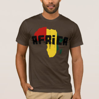 Reggae Map of Africa African Ragga Art T-Shirt