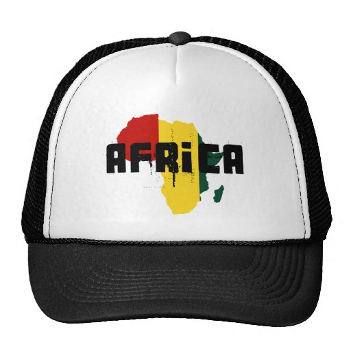 Reggae Map of Africa African Ragga Art Trucker Hat