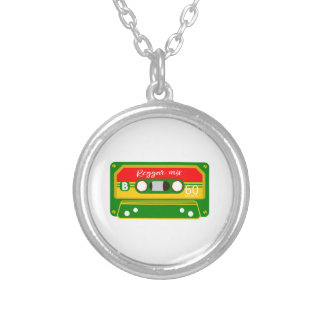 Reggae mix tape cassette Rastafarian Silver Plated Necklace